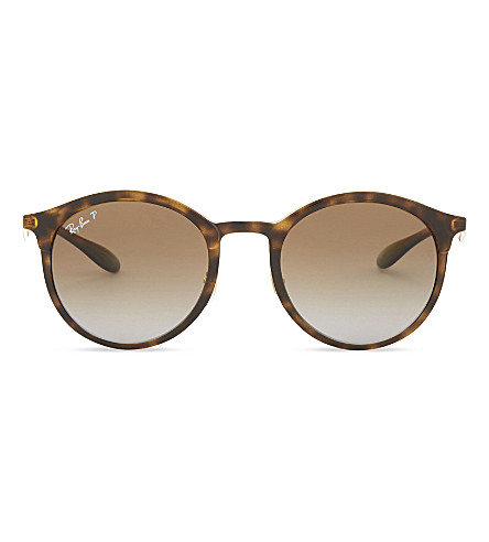RAY-BAN Rb4277 round-frame tortoiseshell sunglasses (Light+havana