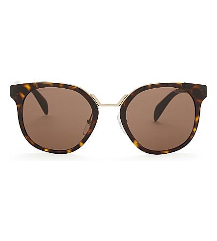 PRADA Pr17ts square-frame sunglasses (Havana