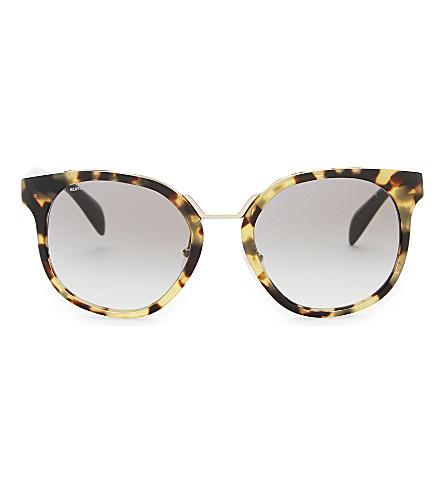 PRADA Pr17t square-frame sunglasses (Havana