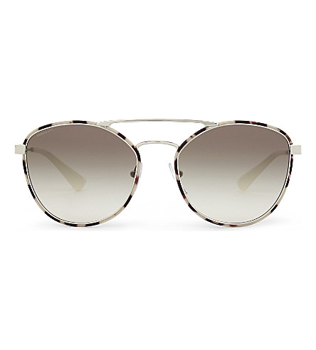 PRADA Pr63Ts square-frame sunglasses (Spotted+opal+brown