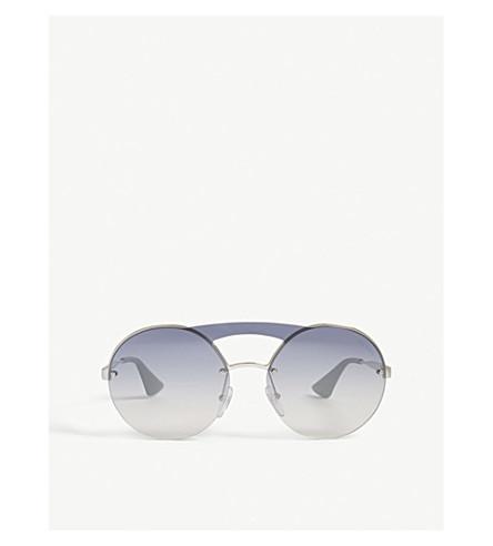PRADA Pr65Ts round-frame sunglasses (Silver