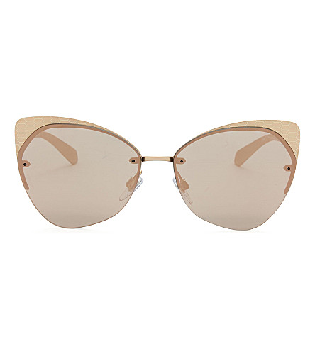 BVLGARI Bv6096 cat-eye sunglasses (Gold