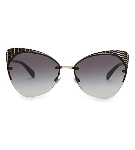 BVLGARI Bv6096 Serpenti cat-eye frame sunglasses (Matte+black/gold
