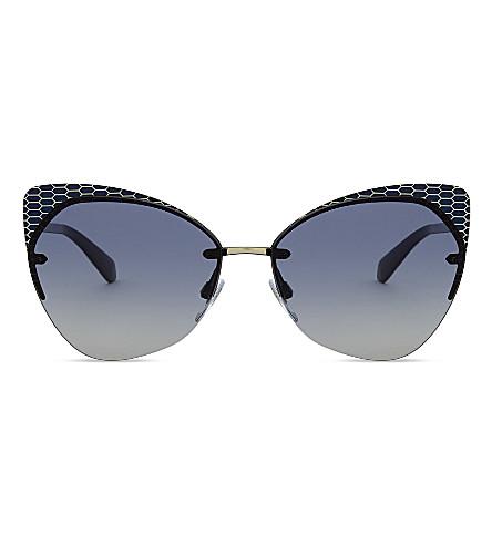 BVLGARI Bv6096 cat-eye sunglass (Blue