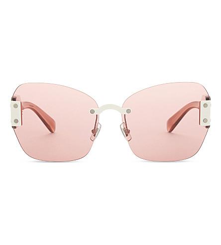 MIU MIU Mu08s square-frame sunglasses (Ivory