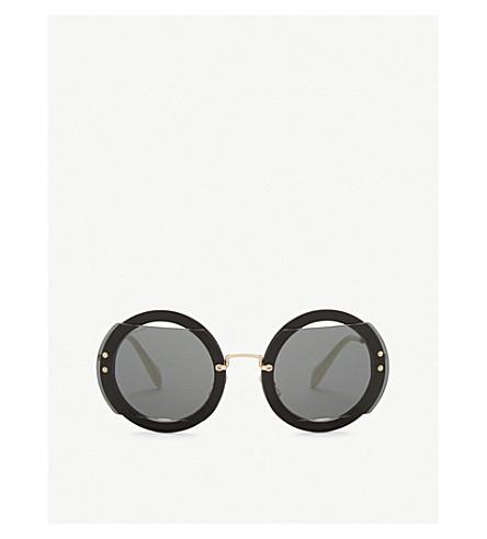MIU MIU Mu06s round-frame sunglasses (Black