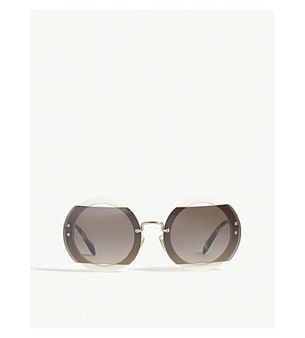 MIU MIU Mu06s Reveal round-frame sunglasses