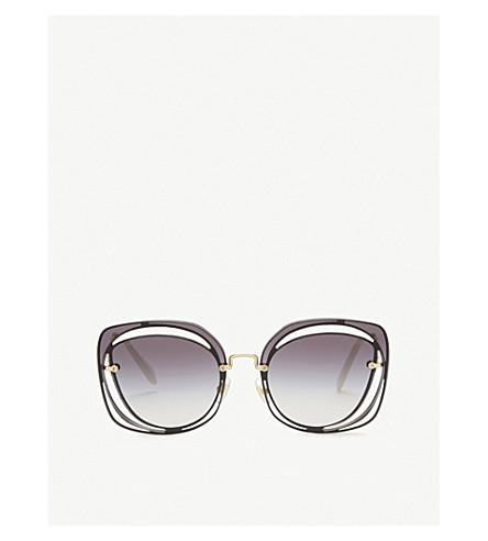 MIU MIU Mu54s square-frame sunglasses (Blu