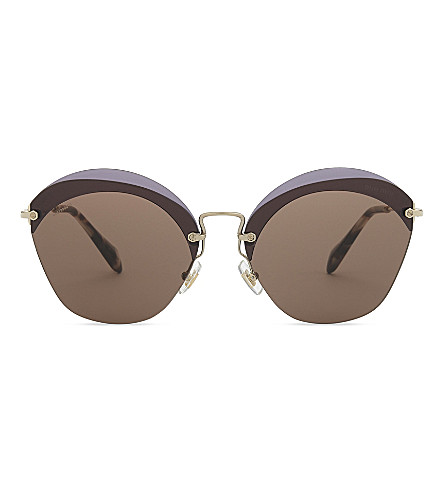 MIU MIU 53SS cat-eye frame sunglasses (Violet