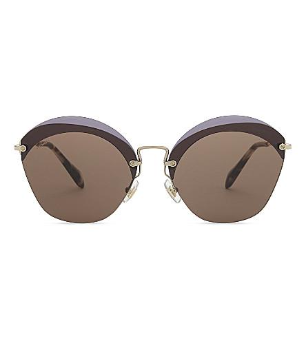 MIU MIU 53SS cat-eye frame sunglasses (Violet