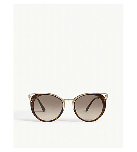 PRADA Pr66ts Phantos cat-eye sunglasses (Havana