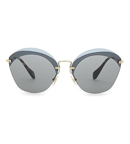 MIU MIU Mu53s cat-eye sunglasses (Blue