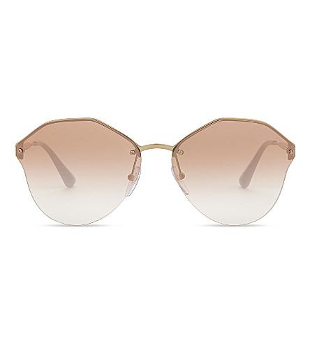 PRADA Pr64t round-frame sunglasses (Gold