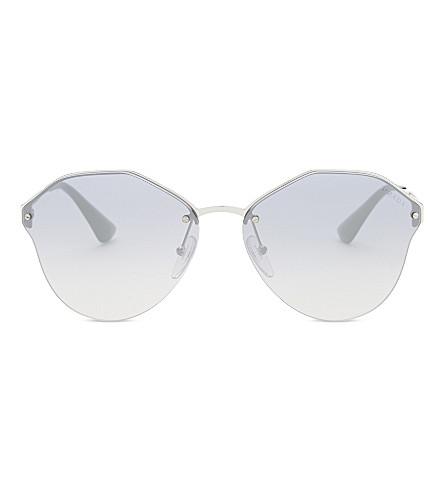 PRADA Pr64t round-frame sunglasses (Silver