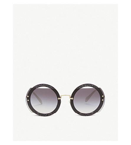 MIU MIU Mu06s round-frame sunglasses (Dark+violet