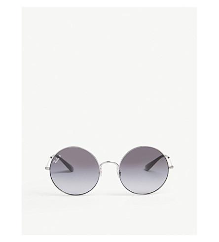 RAY-BAN RB3592 round-frame sunglasses (Gunmetal