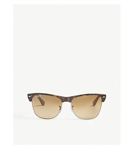 RAY-BAN RB4175 Clubmaster rectangle-frame sunglasses (Havana