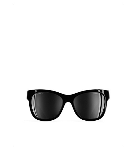 CHANEL 0CH5380 square sunglasses (Top+black/gunmetal