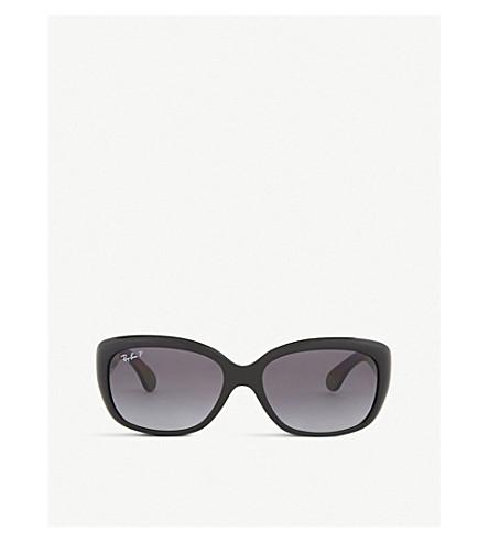 RAY-BAN Rb4101 Jackie rectangle-frame sunglasses (Black