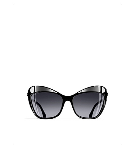 CHANEL Ch5377 butterfly-frame sunglasses (Black
