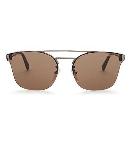 PRADA Pr67ts Phantos square-frame sunglasses (Gunmetal