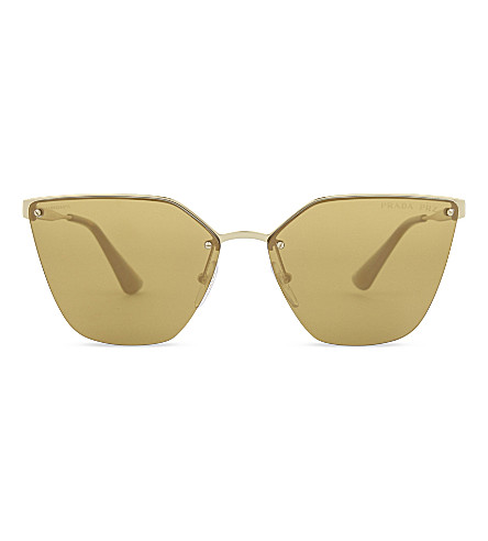 PRADA Cinema cat-eye frame sunglasses (Gold