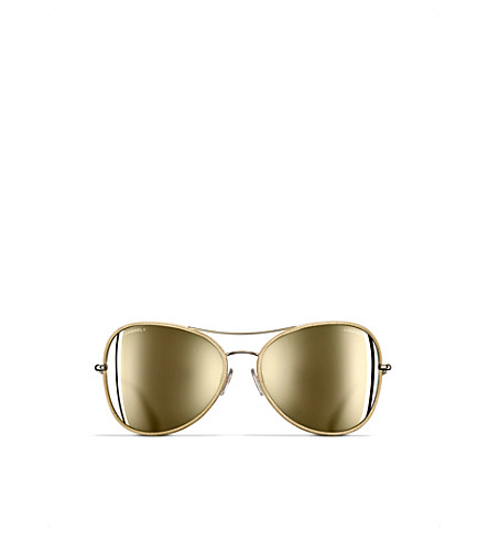 CHANEL Butterfly sunglasses (Gold