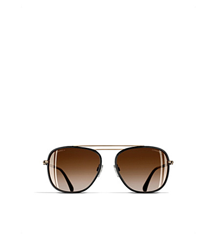 CHANEL Rectangle sunglasses (Black