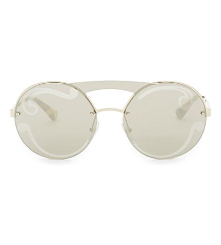 PRADA Pr65t round-frame sunglasses (Gold
