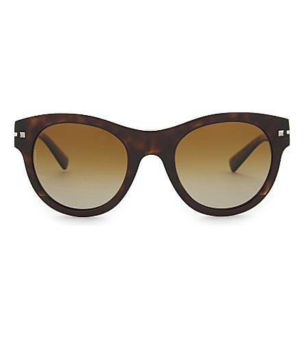 VALENTINO Va4020 round-frame sunglasses (Havana