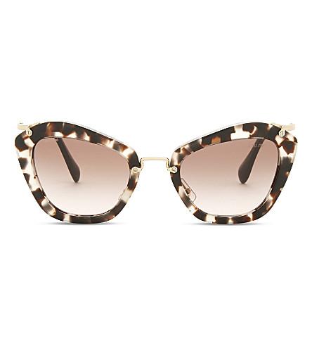 MIU MIU Mu10n cat-eye sunglasses (Opal+ivory+havana