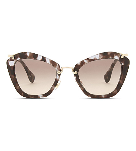 MIU MIU Mu10n cat-eye sunglasses (Lilac+havana