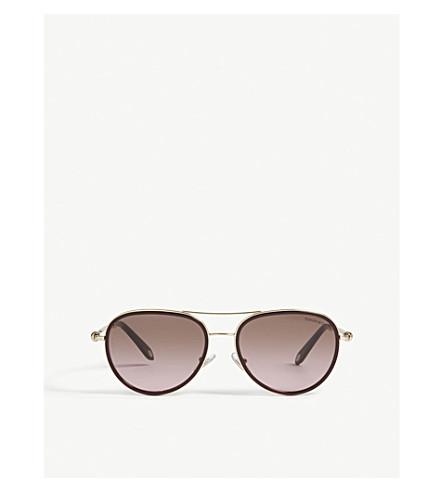 TIFFANY & CO Tf3059 aviator sunglasses (Red