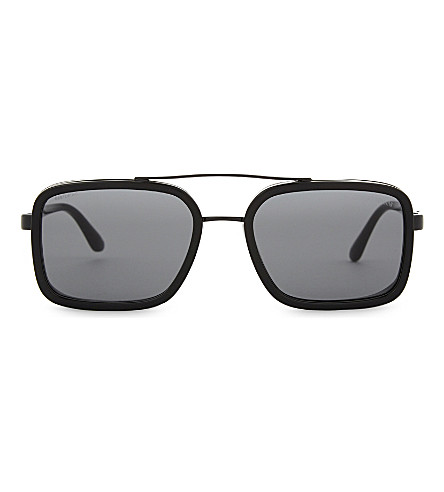 EMPORIO ARMANI 0AR6063 rectangle-frame sunglasses (Black