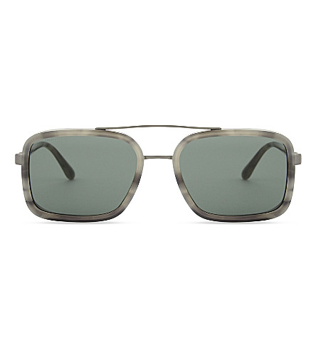 EMPORIO ARMANI 0AR6063 rectangle-frame sunglasses (Grey