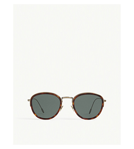 EMPORIO ARMANI Ar6068 round-frame sunglasses (Havana
