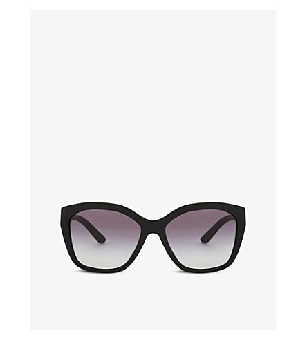 BURBERRY BE4261 irregular-frame sunglasses (Black