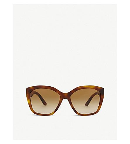 BURBERRY BE4261 irregular-frame sunglasses (Havana