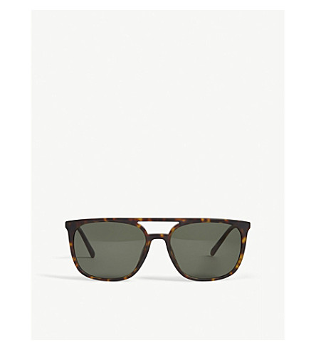 BURBERRY Be4257 square-frame sunglasses (Havana