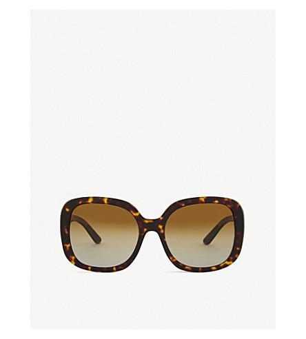 BURBERRY BE4259 square-frame sunglasses (Havana