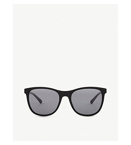 BVLGARI Bv7031 Diagono rectangle-frame sunglasses (Black