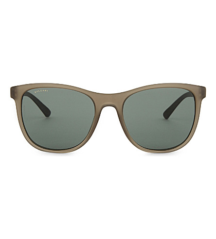 BVLGARI Bv7031 Diagono rectangle-frame sunglasses (Grey