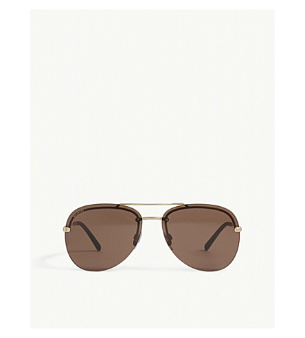 BVLGARI Bv5044 aviator sunglasses (Gold