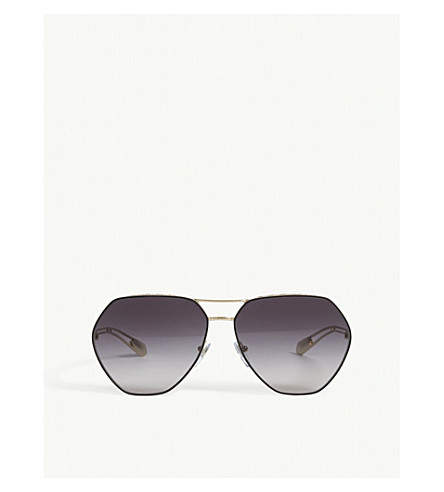 BVLGARI Bv6098 irregular sunglasses (Black