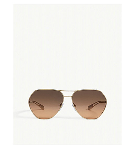 BVLGARI Bv6098 irregular sunglasses (Gold