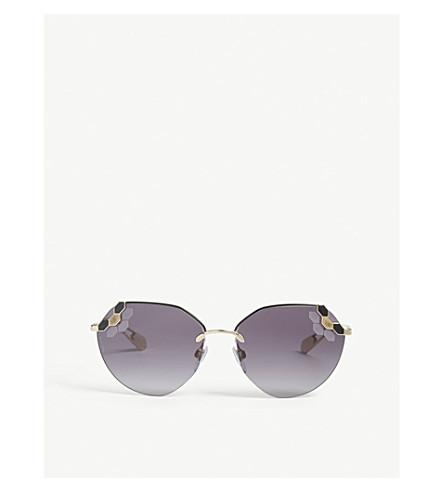 BVLGARI Bv6099 irregular sunglasses (Black