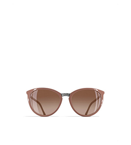 CHANEL Cat-eye sunglasses (Antique+rose
