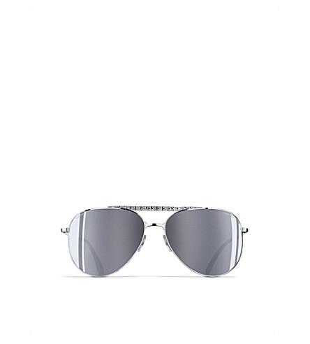 CHANEL Pilot sunglasses (Silver