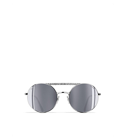 CHANEL Round sunglasses (Silver