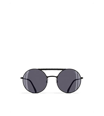 CHANEL Round sunglasses (Matte+black